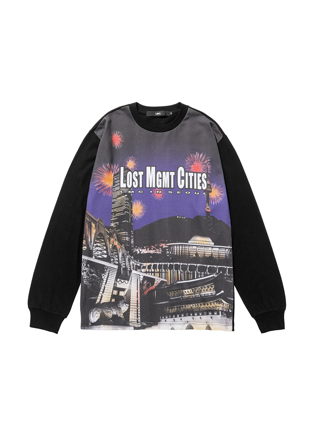 LMC CITY SOUVENIR LONG SLV TEE black