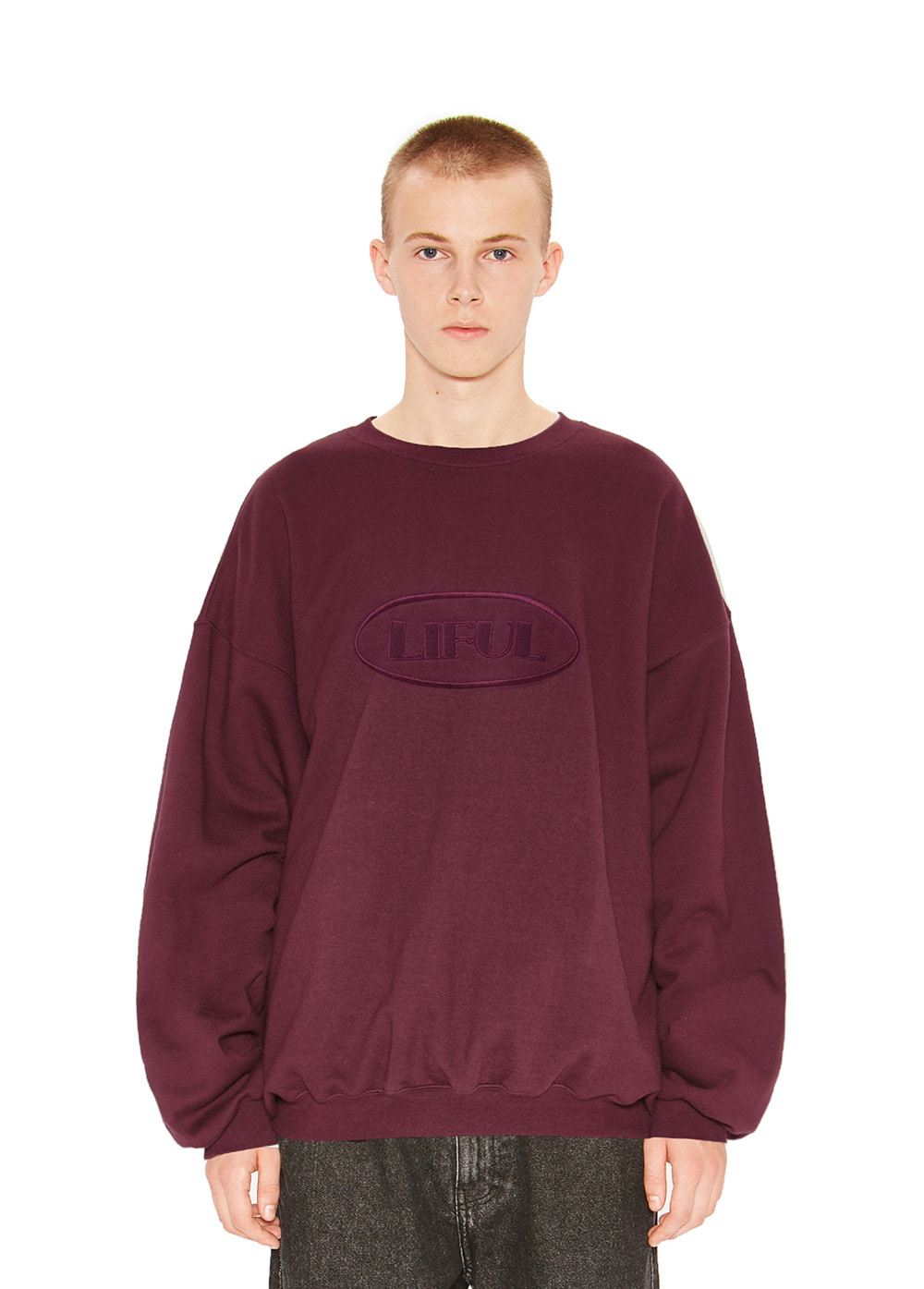 OVAL LOGO SWEATSHIRT burgundy