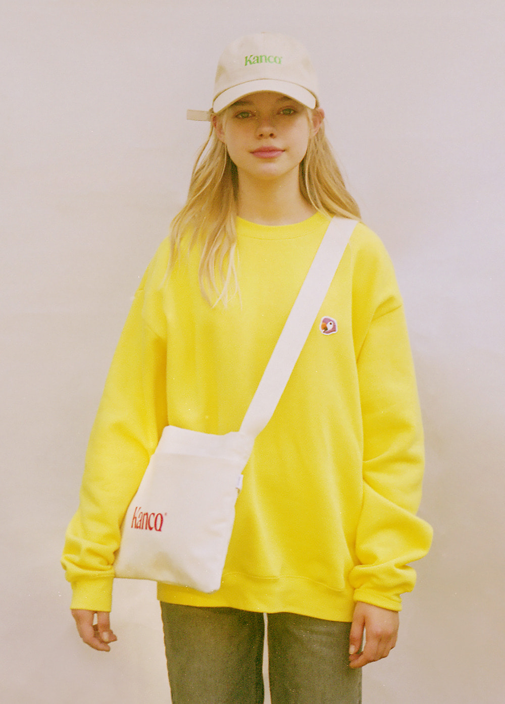 KANCO LOGO SWEATSHIRT yellow
