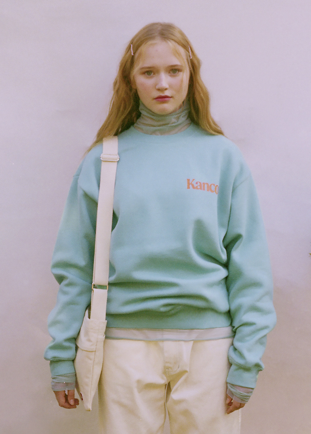 KANCO MINI SERIF LOGO SWEATSHIRT mint