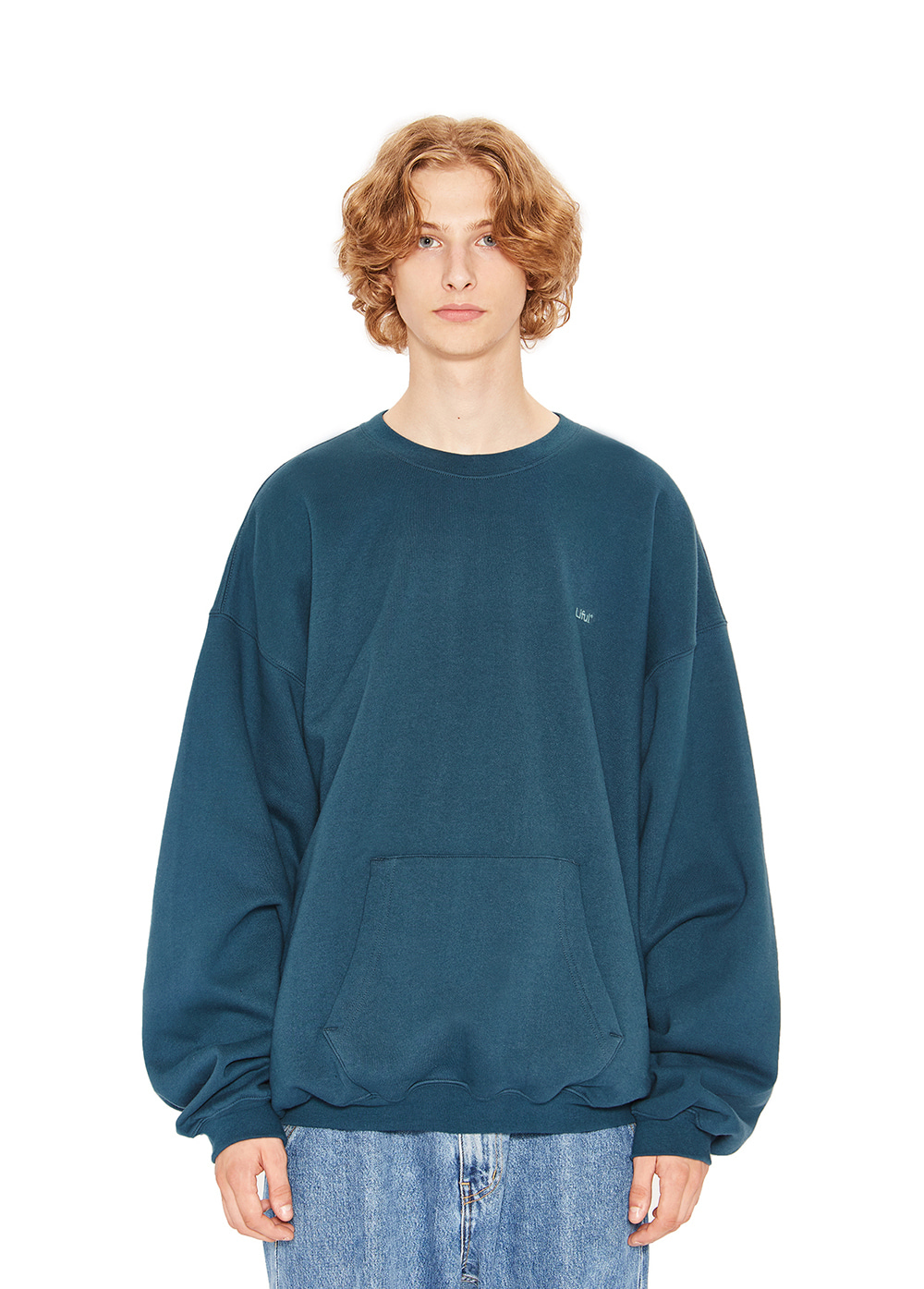 LIFUL LOGO POCKET SWEATSHIRT teal green