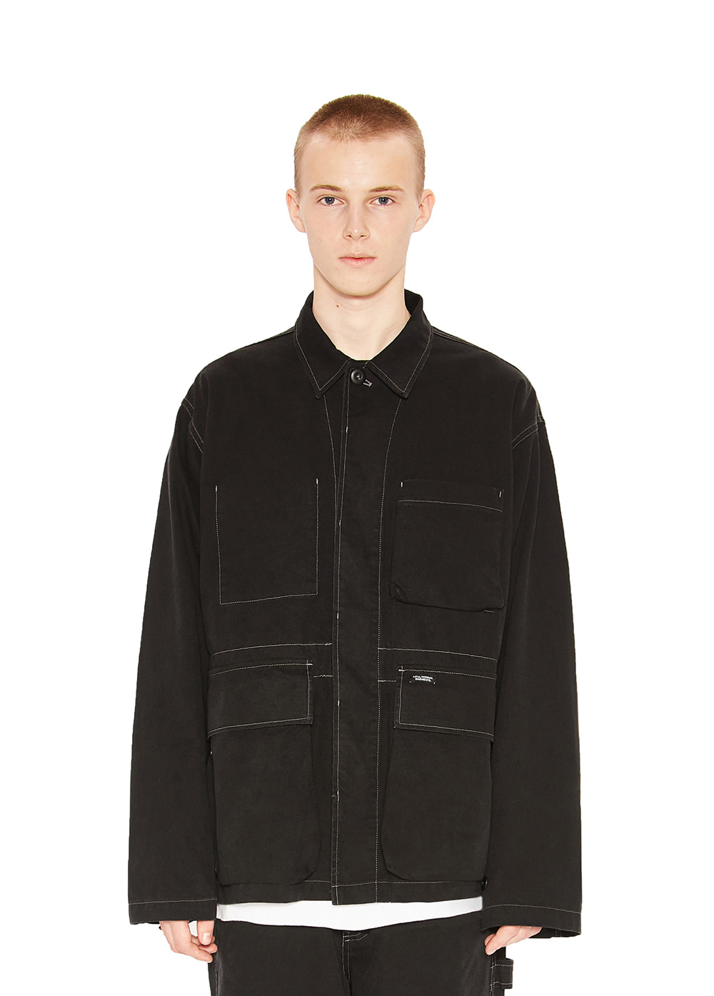 WASHED WORK JACKET black
