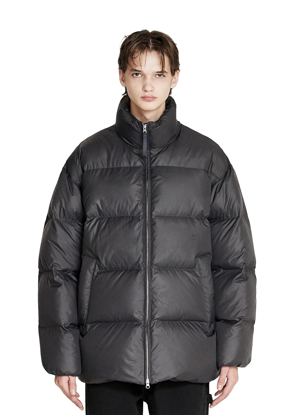OVERSIZED MID LENGTH DOWN PARKA matt black