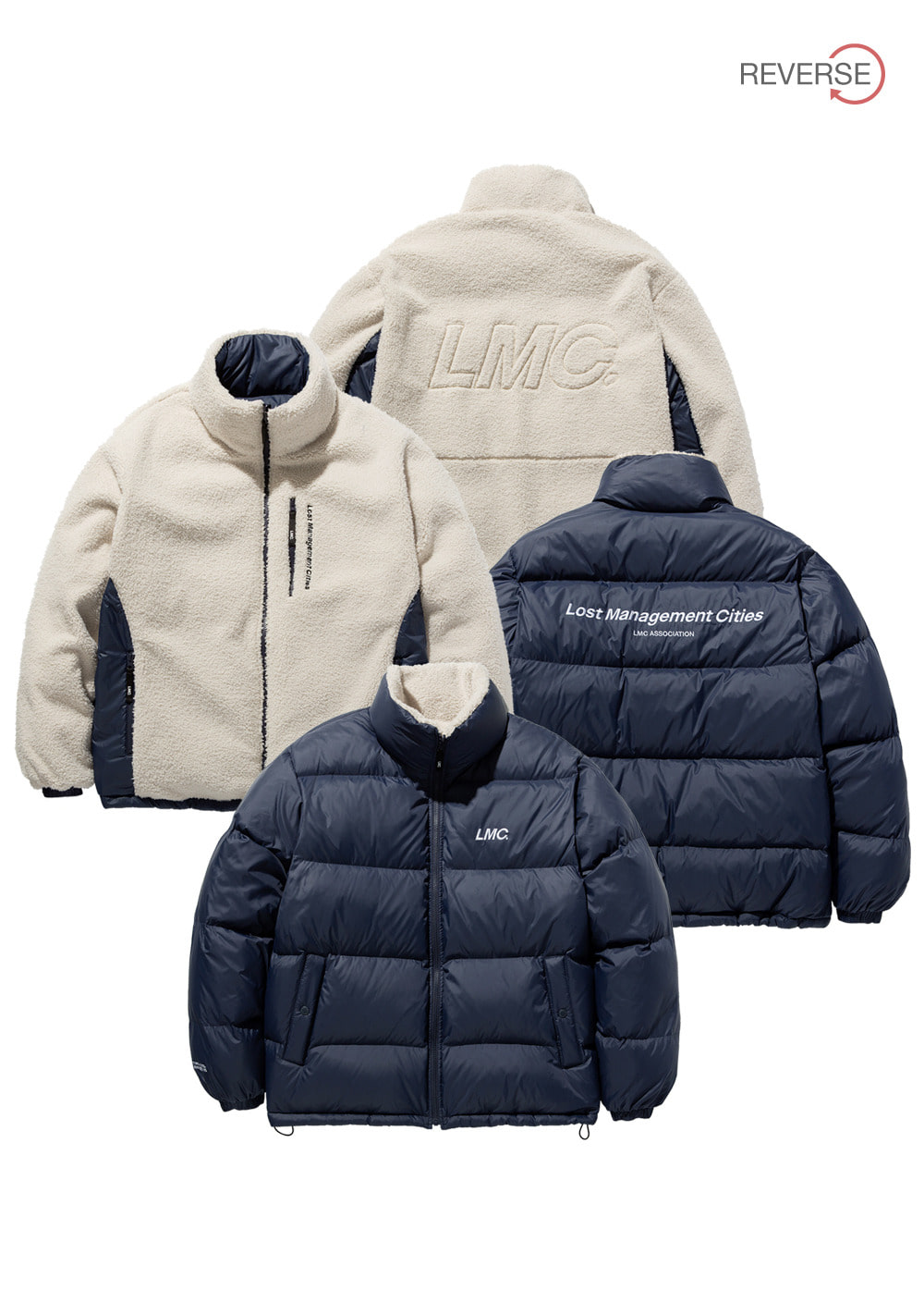 LMC BOA FLEECE REVERSIBLE DOWN PARKA nv/be