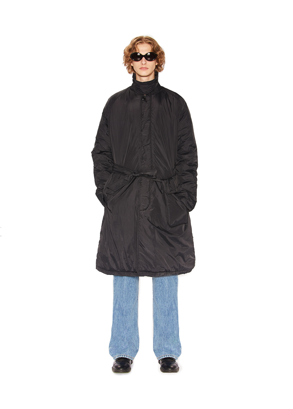 PADDED BALMACAAN COAT black