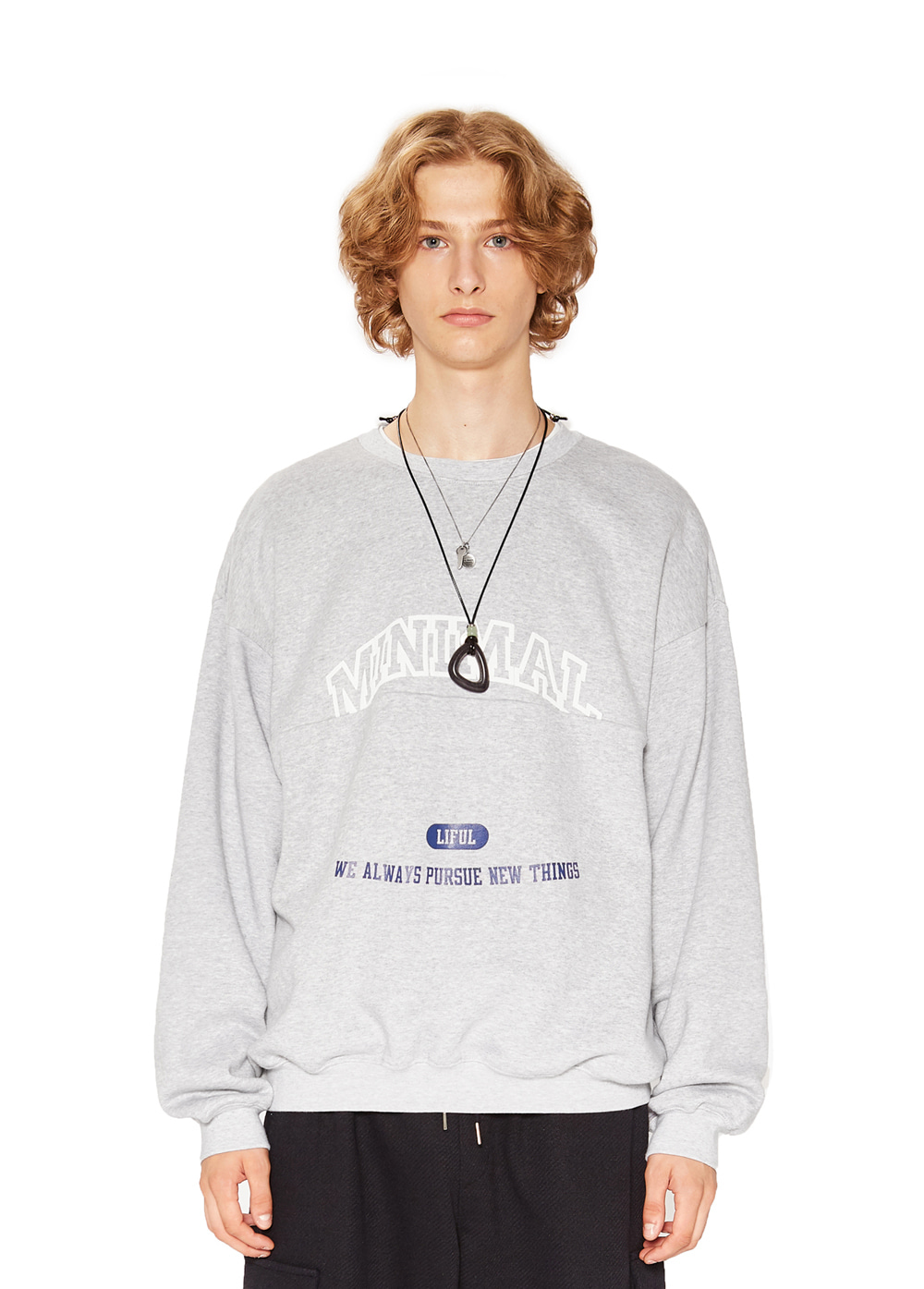 COLLEGE MIX SWEATSHIRT melange gray