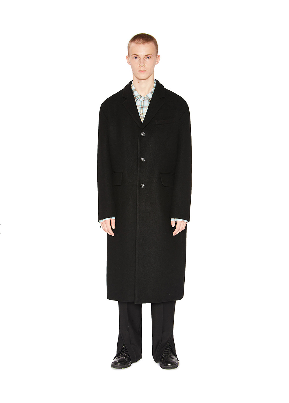 TAILORED LONG COAT black