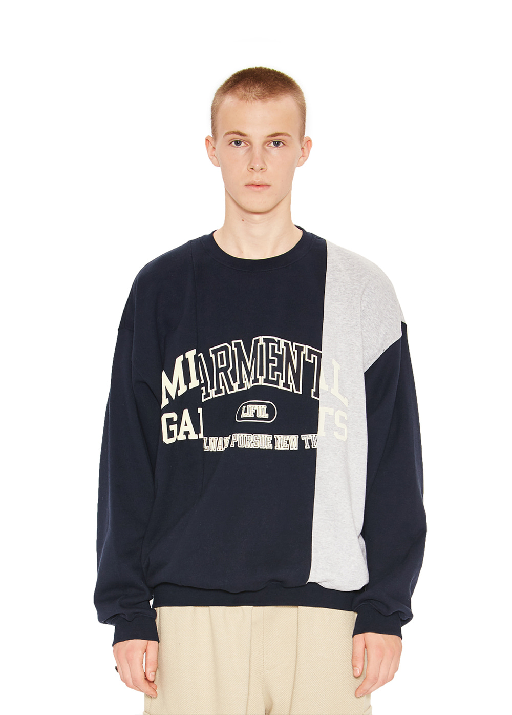 COLLEGE MIX SWEATSHIRT navy