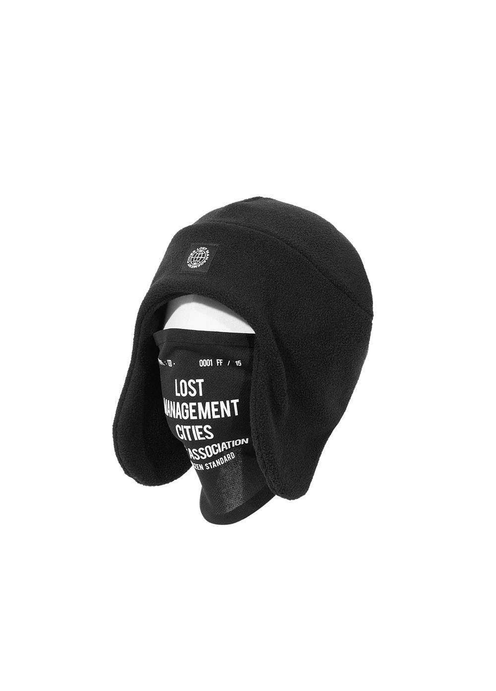 LMC MASK FLEECE EARFLAP BEANIE black