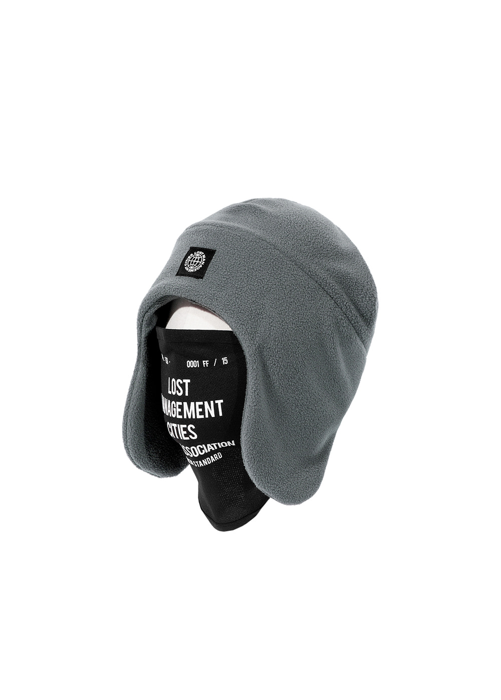 LMC MASK FLEECE EARFLAP BEANIE gray