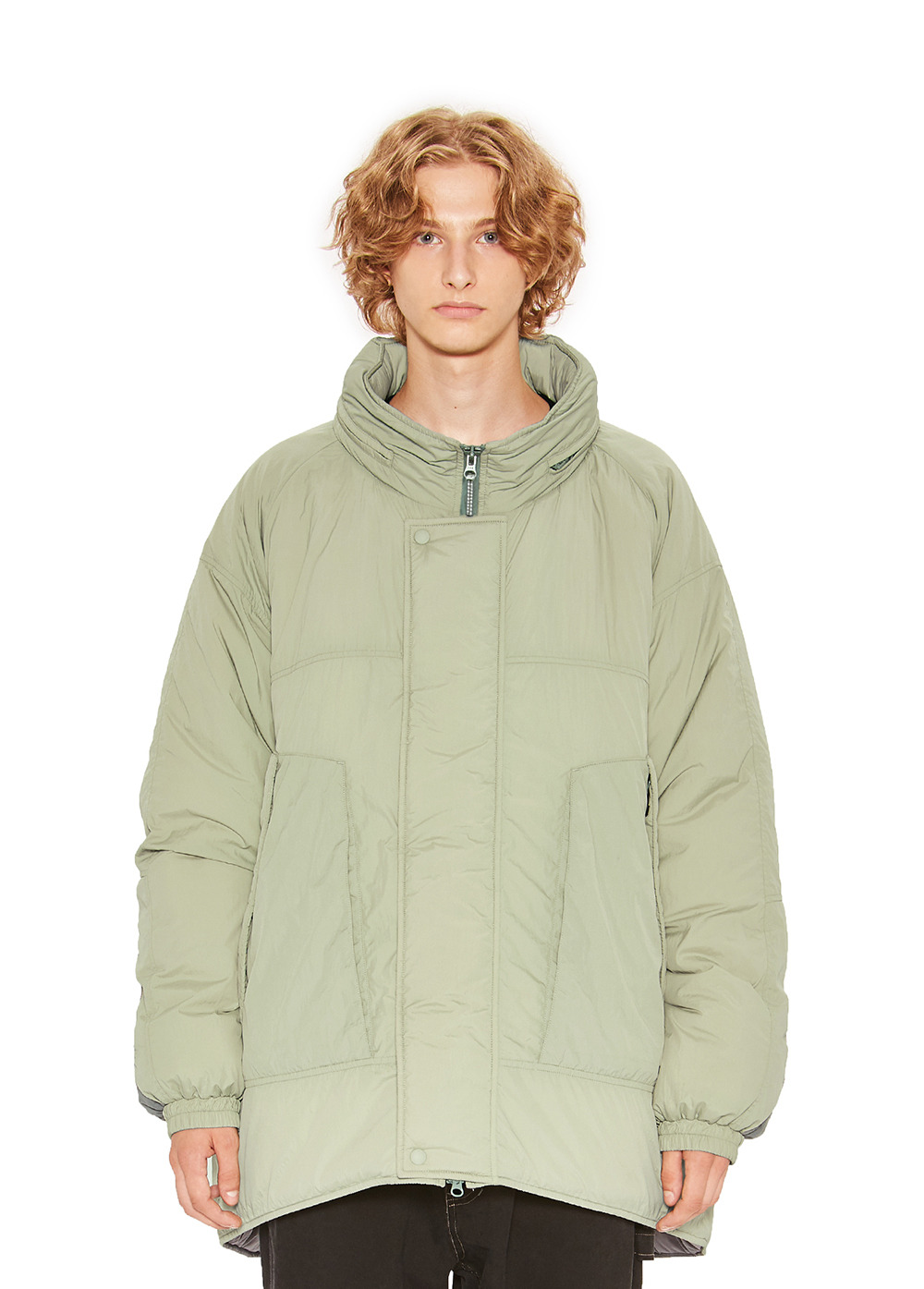 MONSTER PADDED PARKA khaki gray