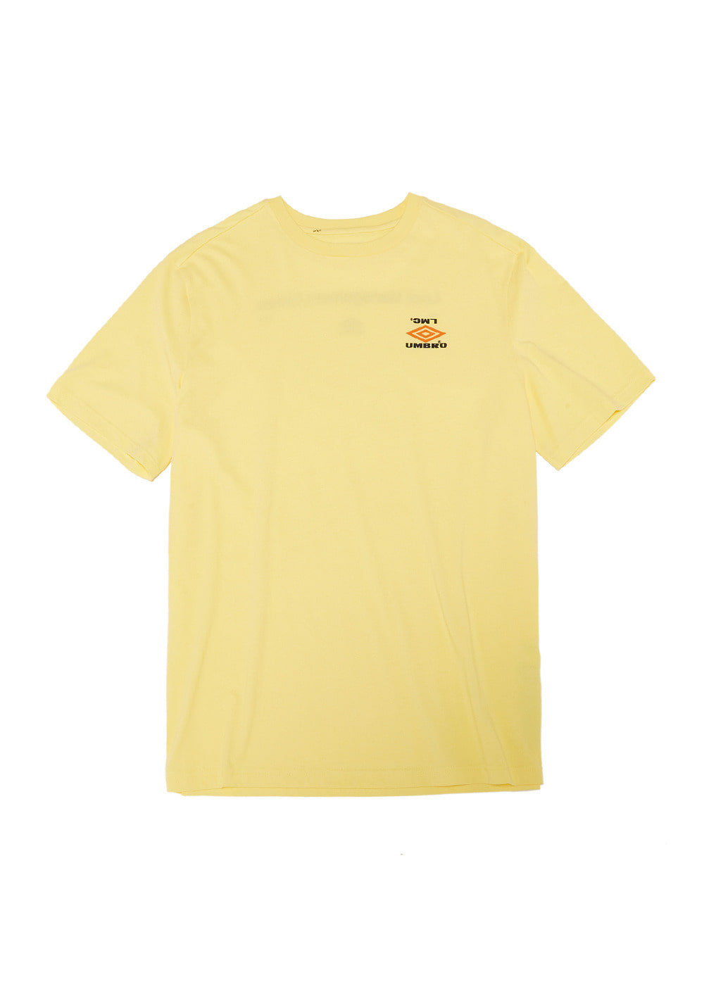 UMB X LMC SML MIXED LOGO TEE yellow