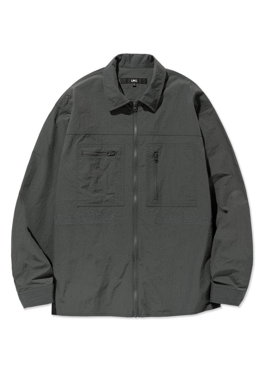 LMC FULL ZIP WORK SHIRT gray