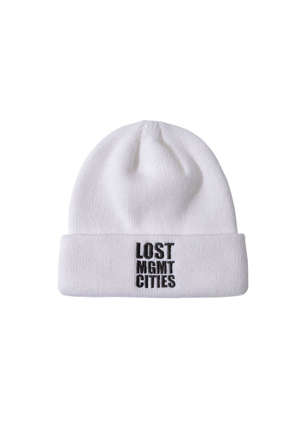 LMC SQ LONG BEANIE white