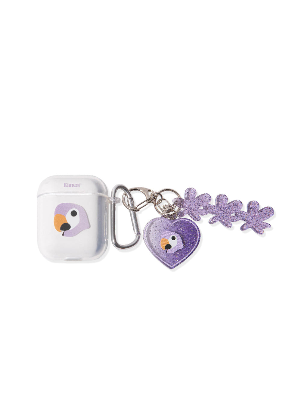 KANCO SYMBOL AIRPODS JELLY CASE with KEY RING clear