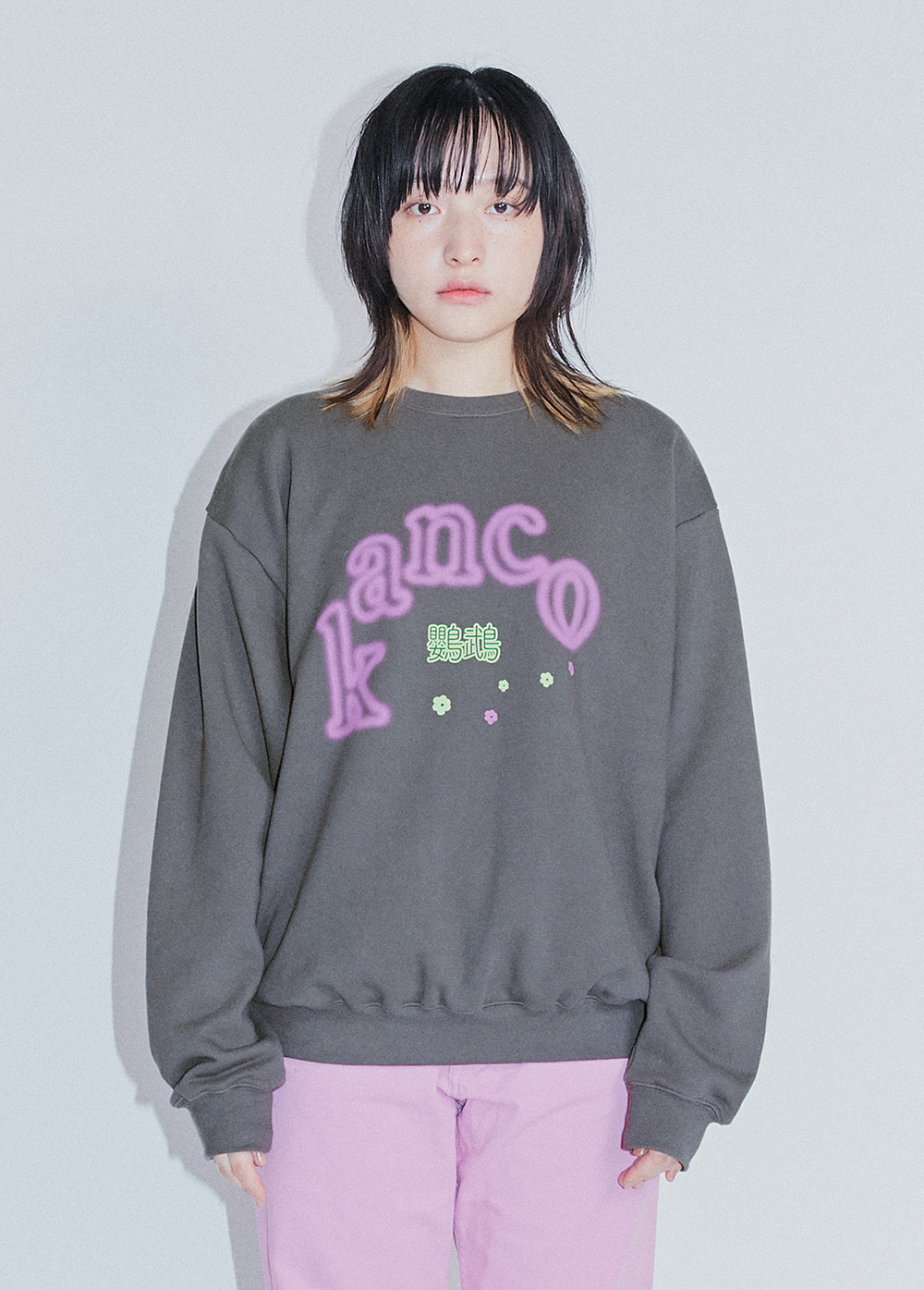 KANCO GLOW SWEATSHIRT dark gray