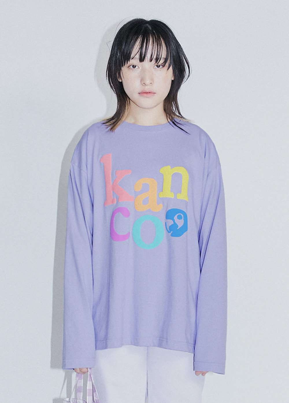KANCO RAINBOW LONG SLEEVE TEE purple