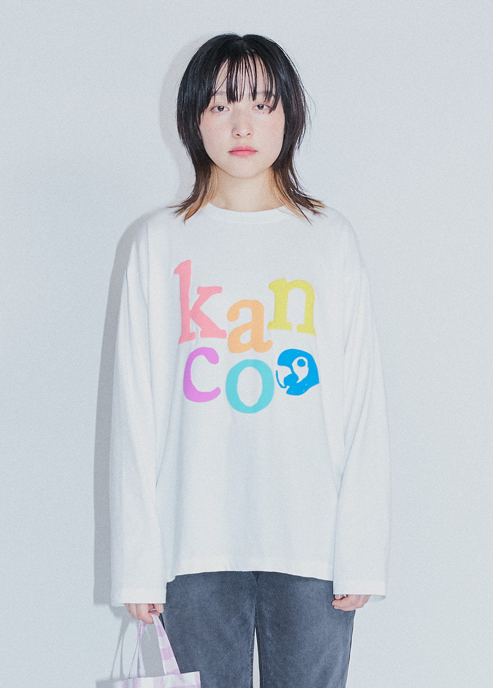 KANCO RAINBOW LONG SLEEVE TEE white