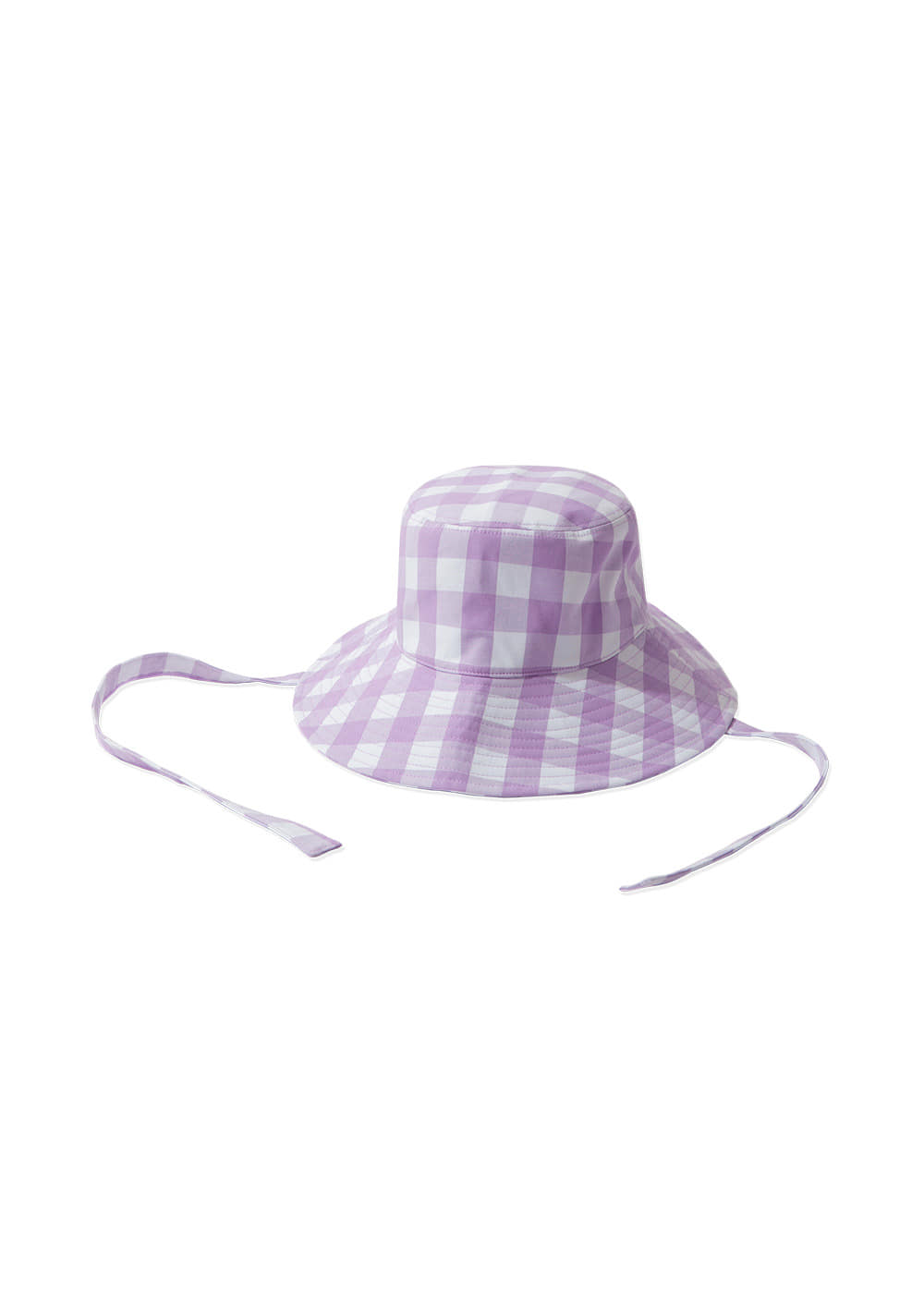 KANCO CHECK BUCKET HAT lavender