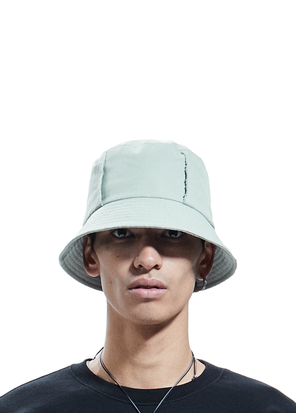 CUT-OFF BUCKET HAT mint gray