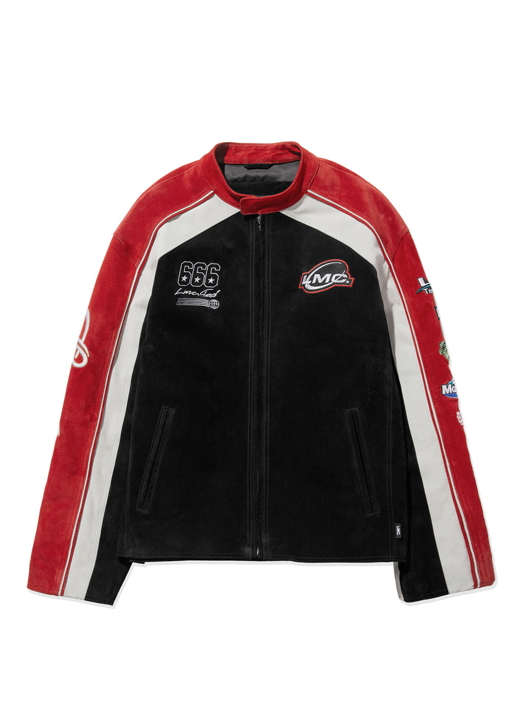 LMC LEATHER RACING JACKET black