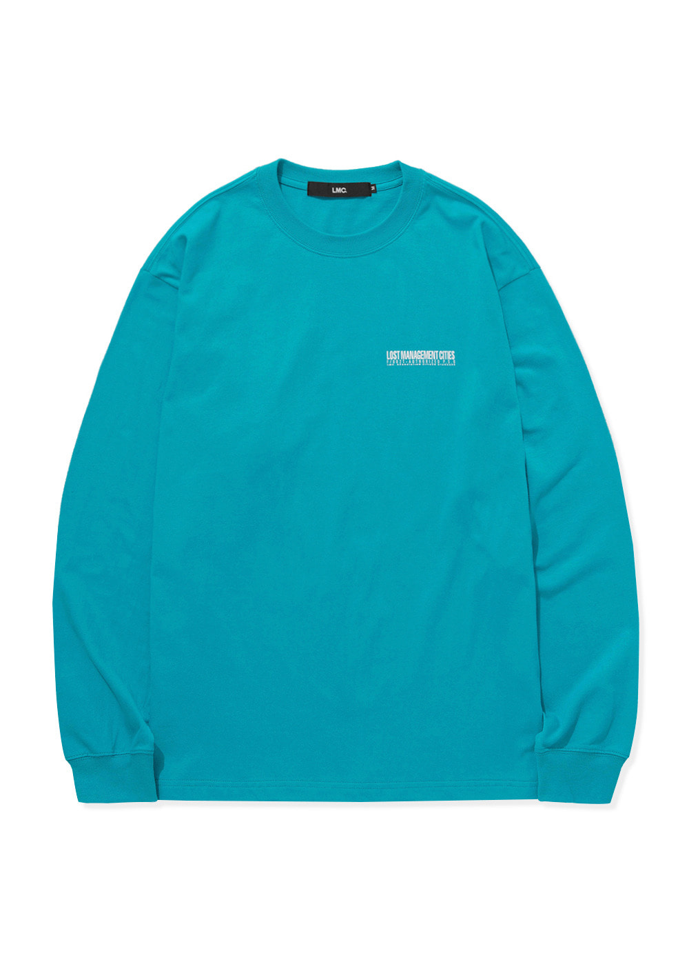 LMC AUTHORIZED LOGO LONG SLV TEE mint blue