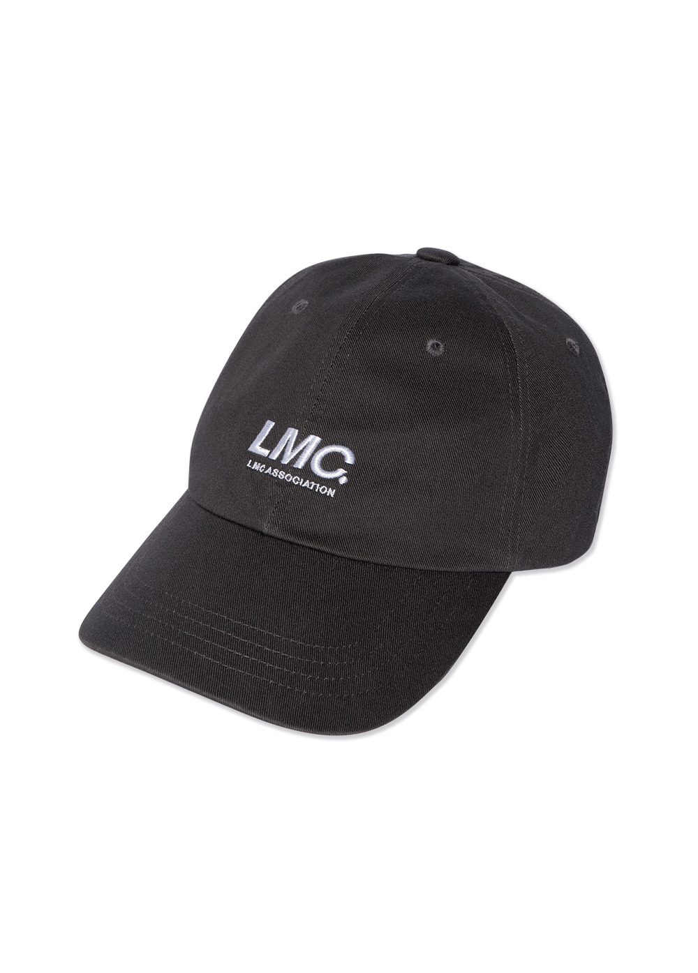 LMC ITALIC ASSOCIATION 6 PANEL CAP charcoal