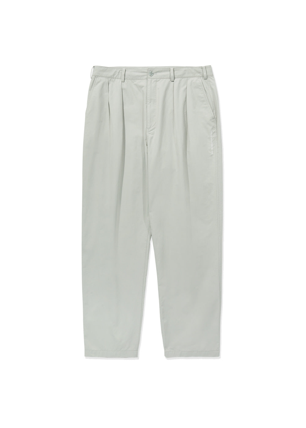 LMC DOUBLE PLEATED EASY TROUSER lt. gray