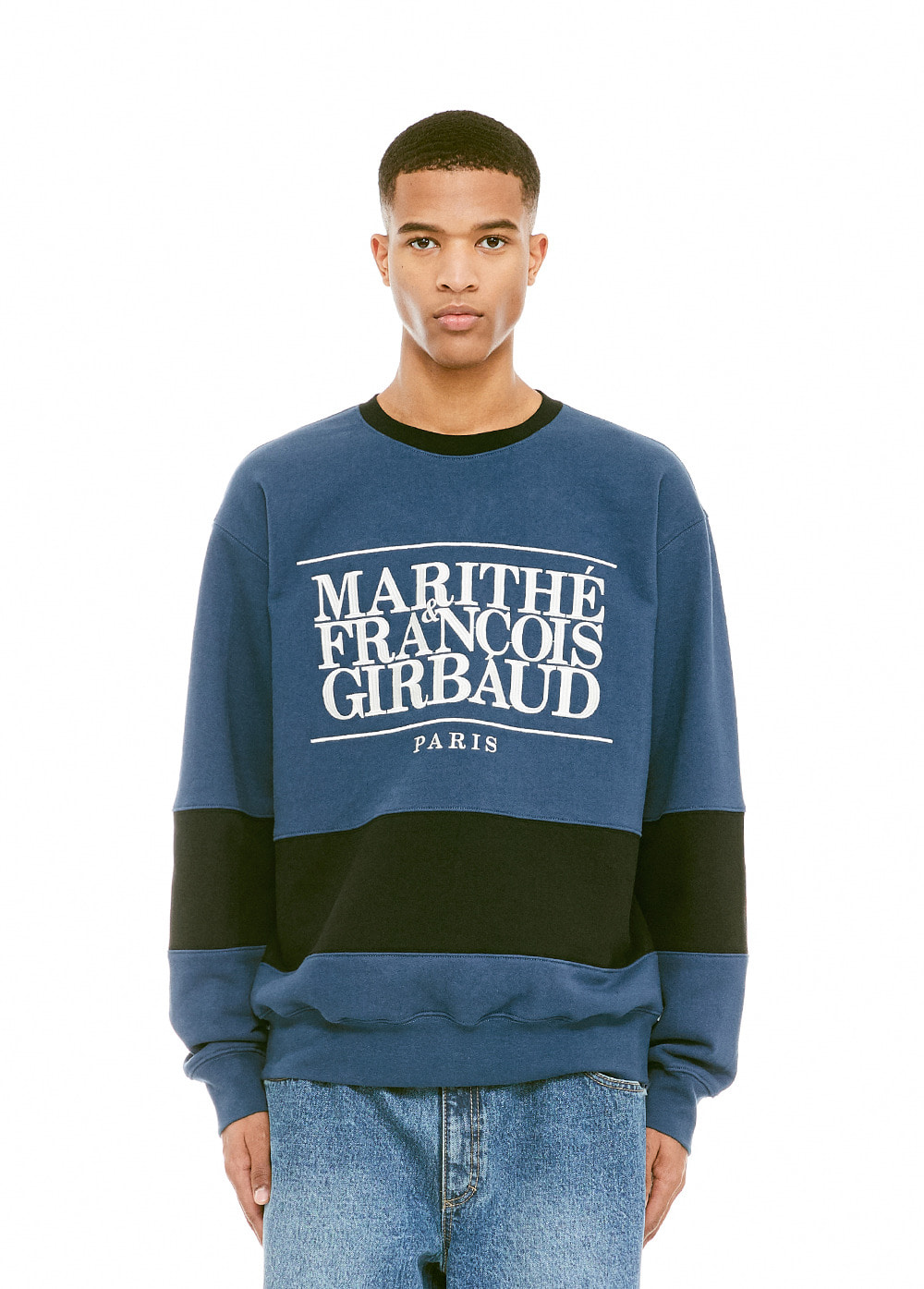 MFG TWO TONE SWEATSHIRT jade/black