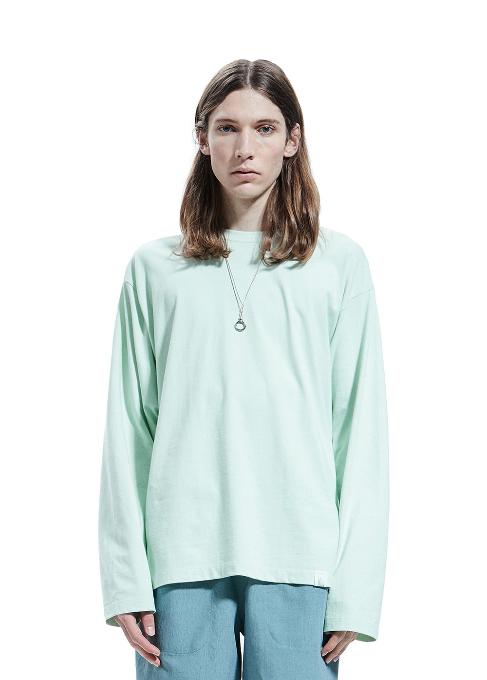 STITCHING LONG SLEEVE TEE mint