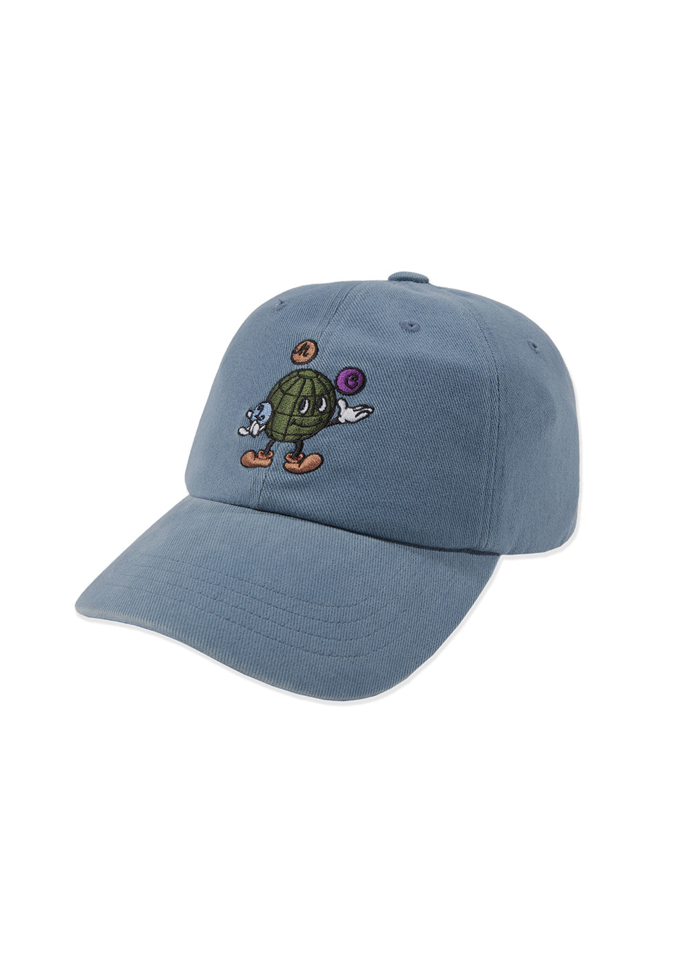 LMC EARTH MAN 6 PANEL CAP vtg blue