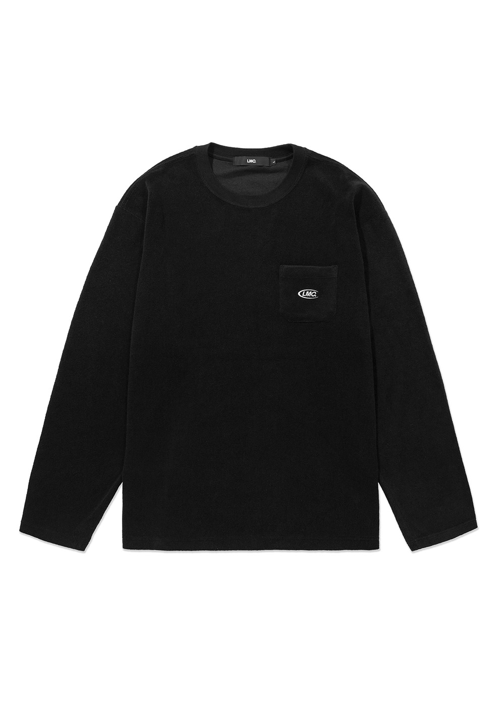 LMC TERRY POCKET LONG SLV TEE black