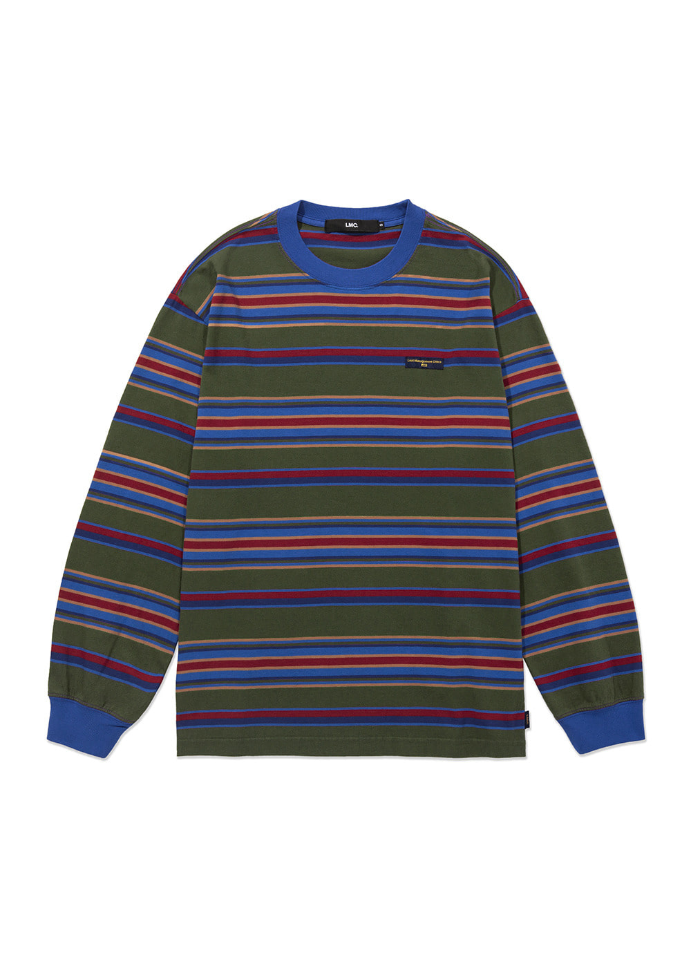 LMC MULTI STRIPE LONG SLV TEE olive