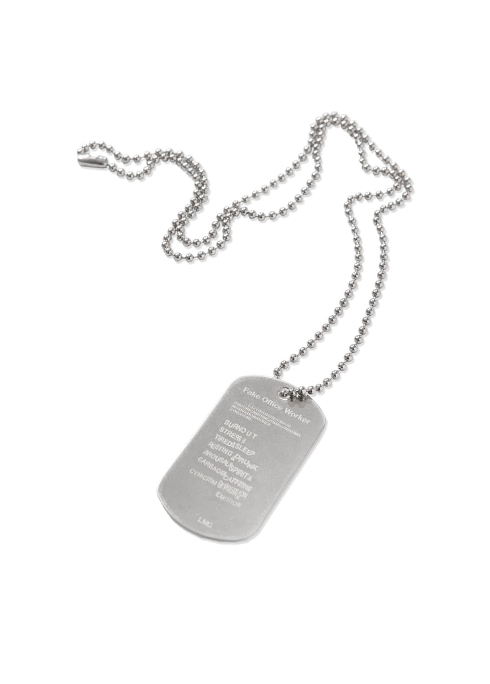 F.O.W DOG TAG REMADE BY LMC silver