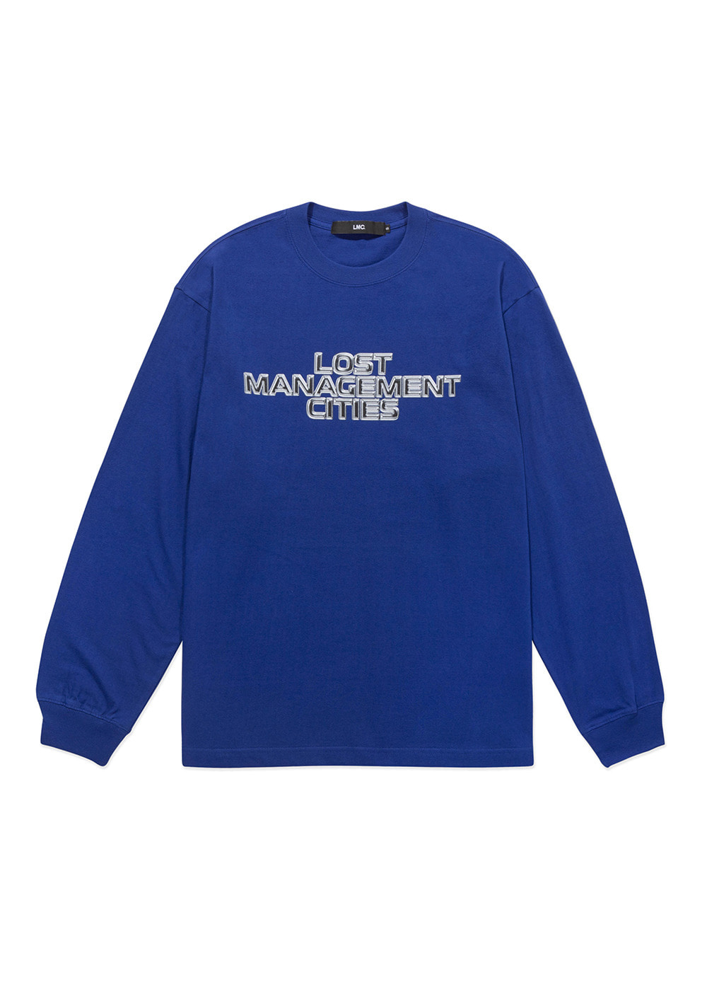 LMC THREE TIER CHROME LONG SLV TEE royal blue