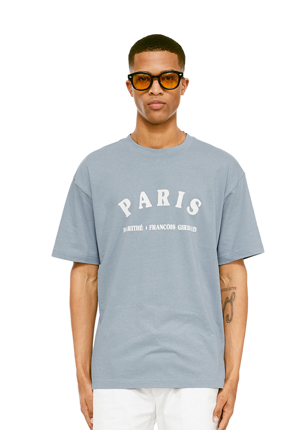 MFG CAPITALE TEE blue gray