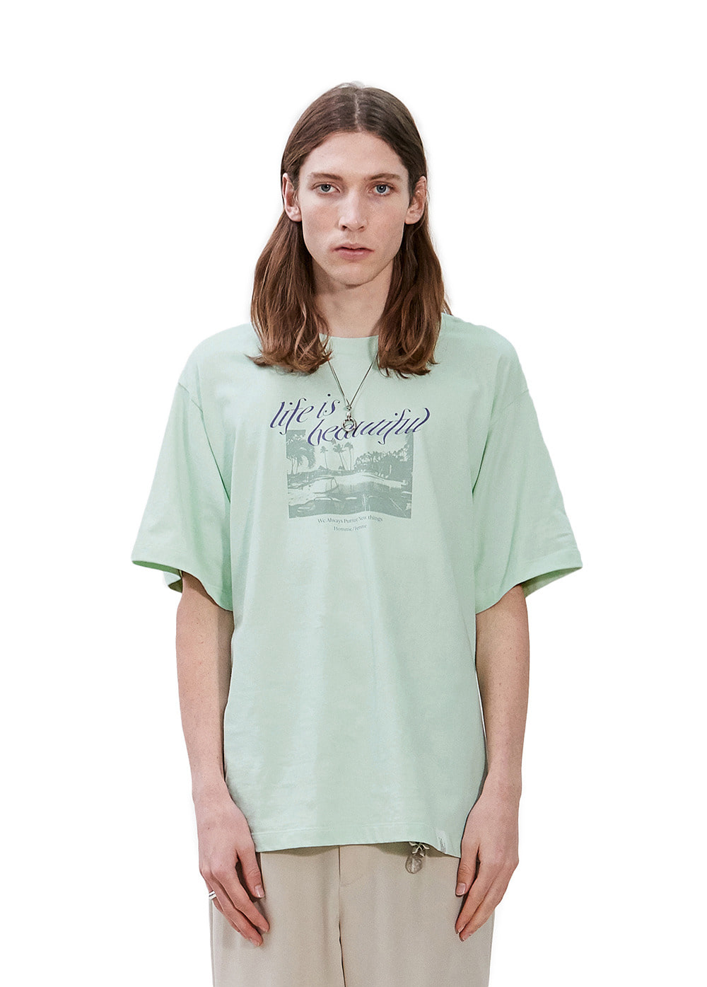 LAPILI BAY GRAPHIC TEE mint
