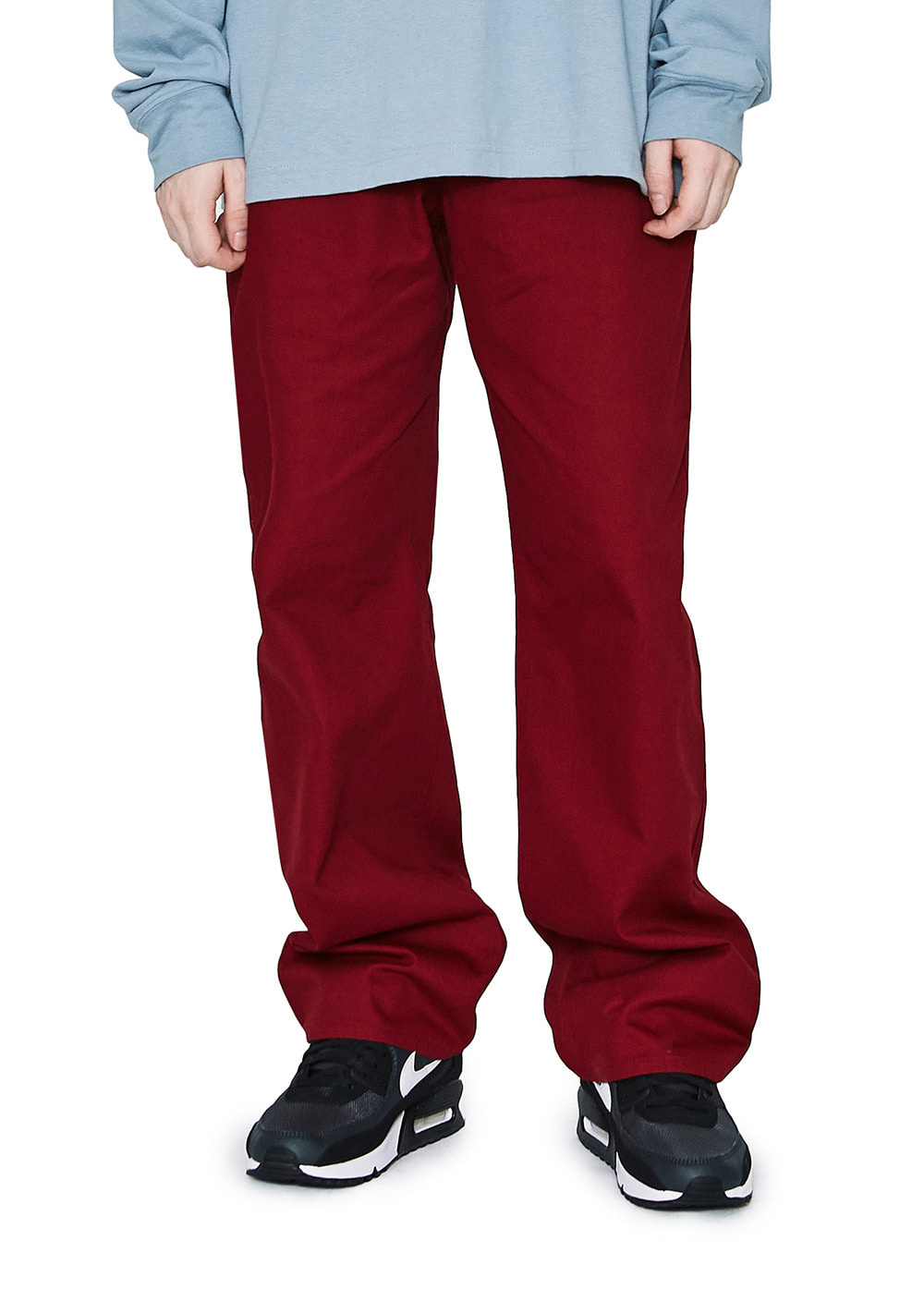LMC BASIC FN CHINO PANTS burgundy