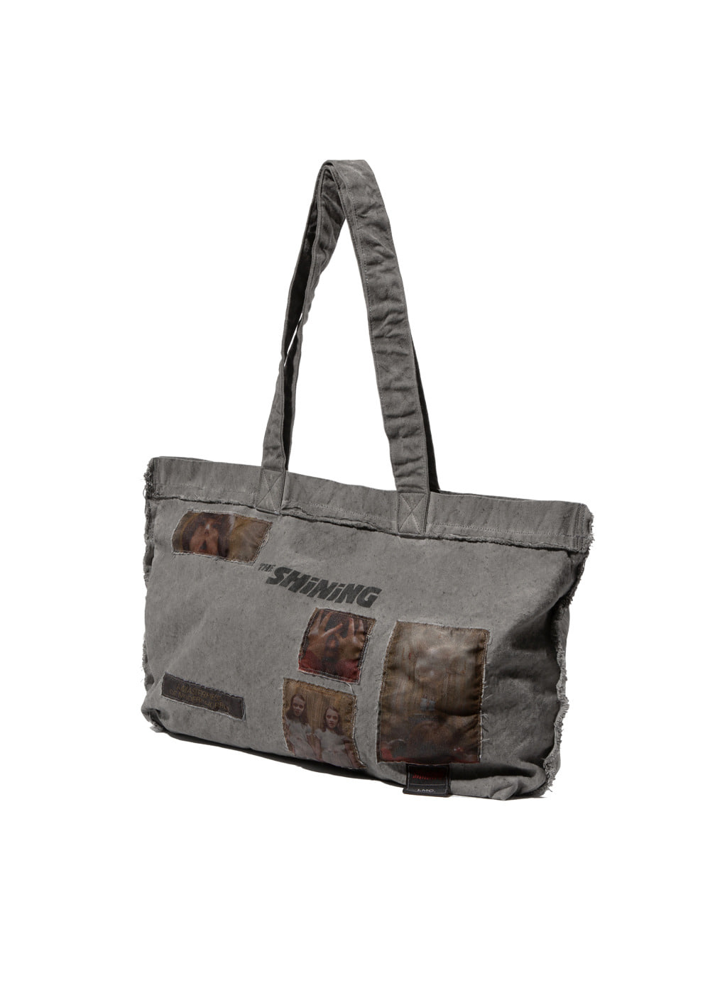 LMC│THE SHINING OVERDYED APPLIQUE LARGE TOTE BAG dark gray