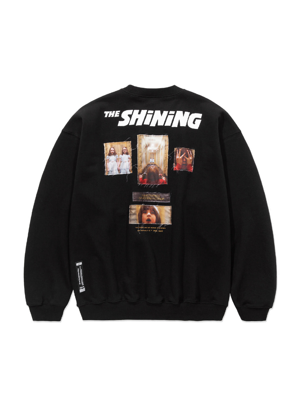 LMC│THE SHINING APPLIQUE OVERSIZED SWEATSHIRT black
