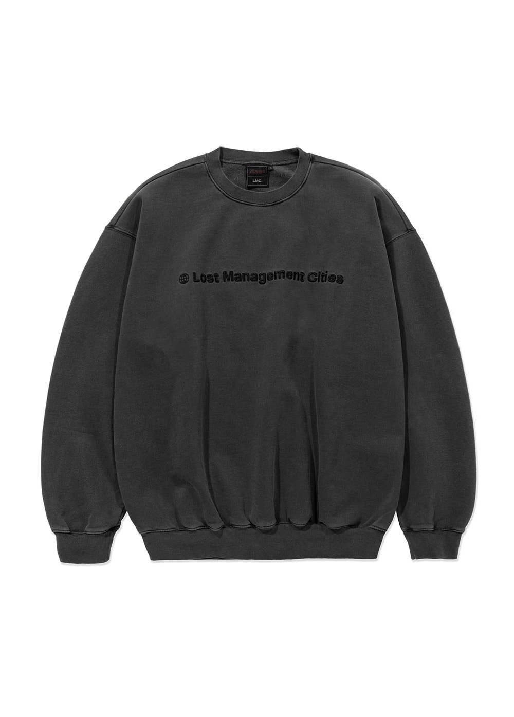 LMC│THE SHINING APPLIQUE OVERSIZED SWEATSHIRT dark gray