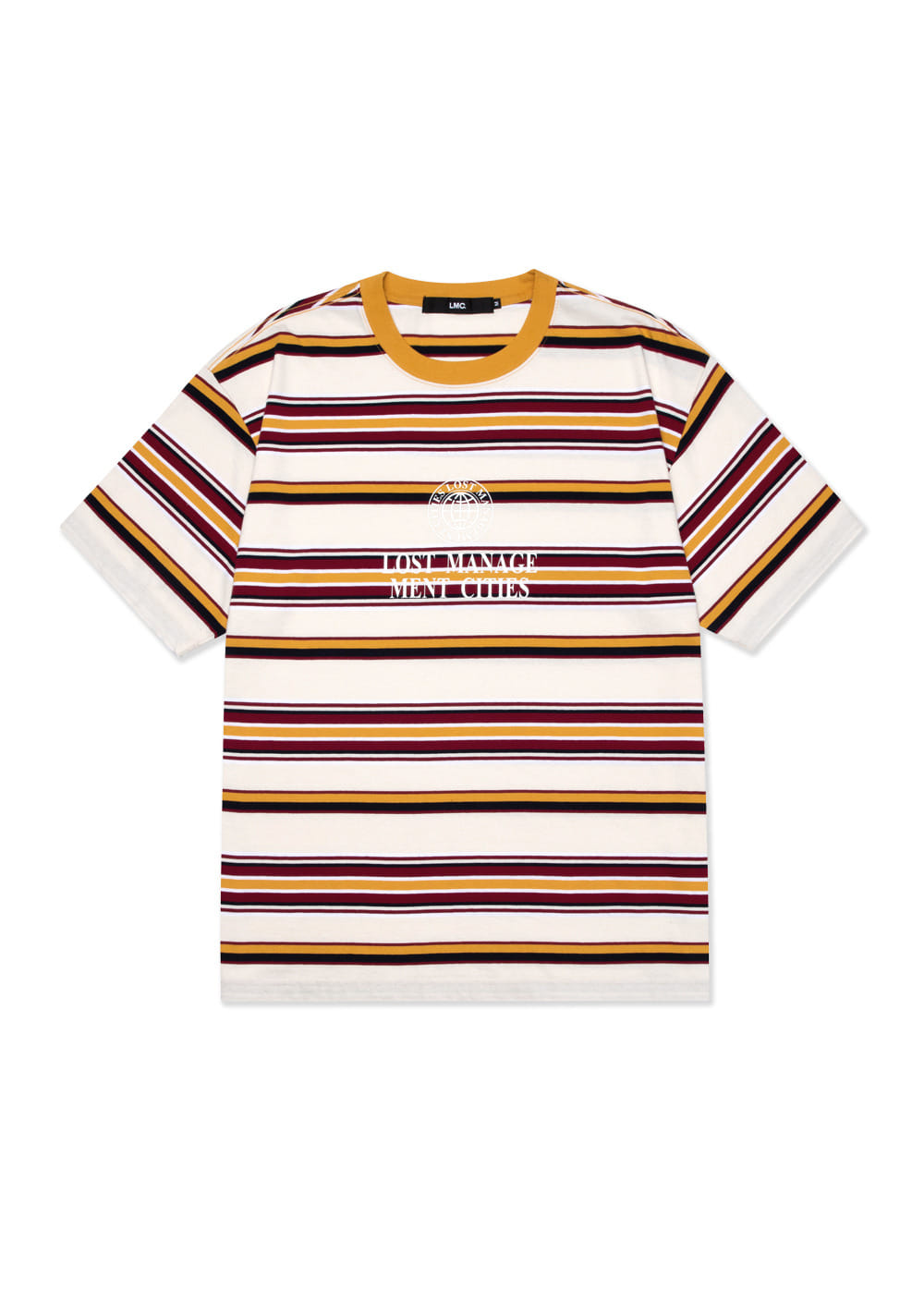 LMC MULTI STRIPE TEE cream
