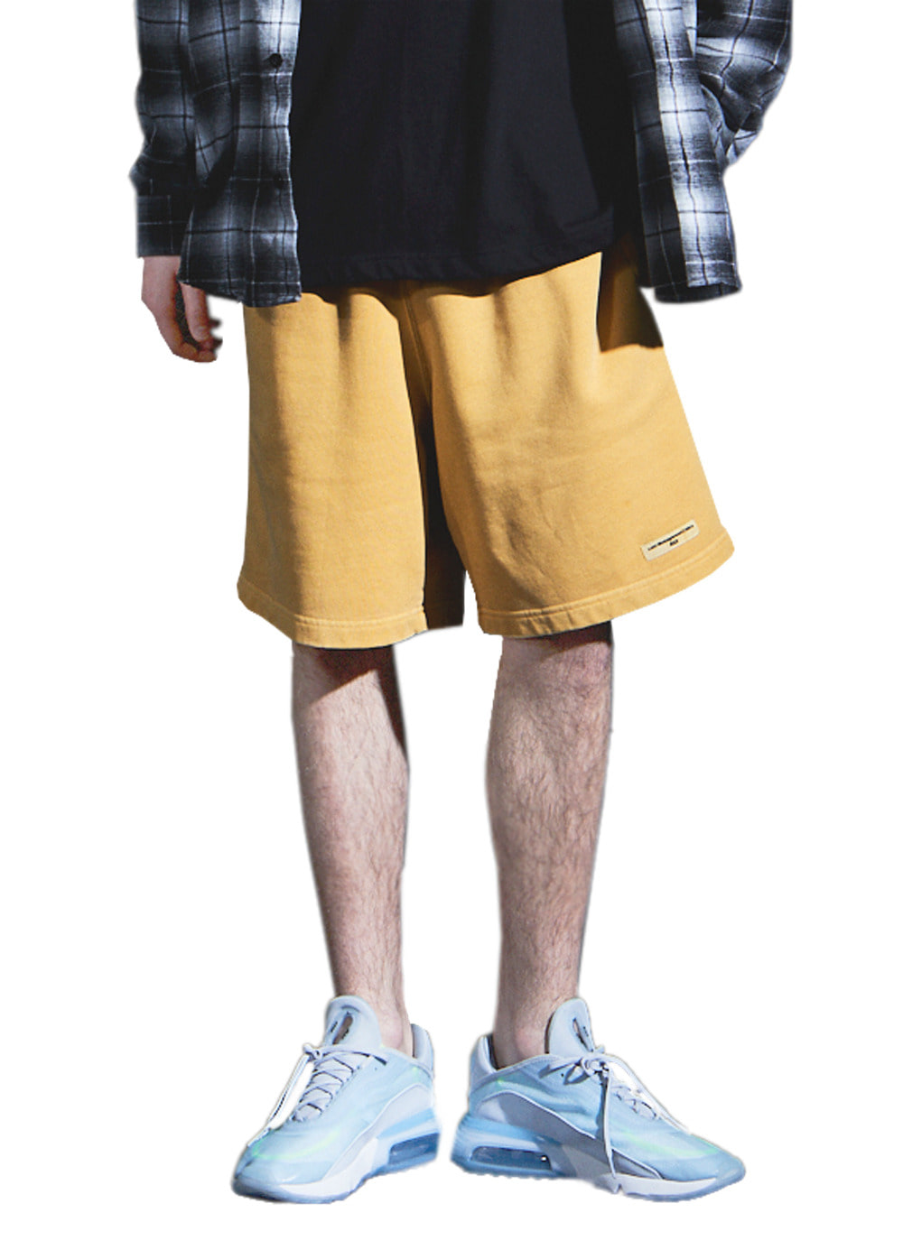 LMC OVERDYED ARCH FN SWEAT SHORTS yellow