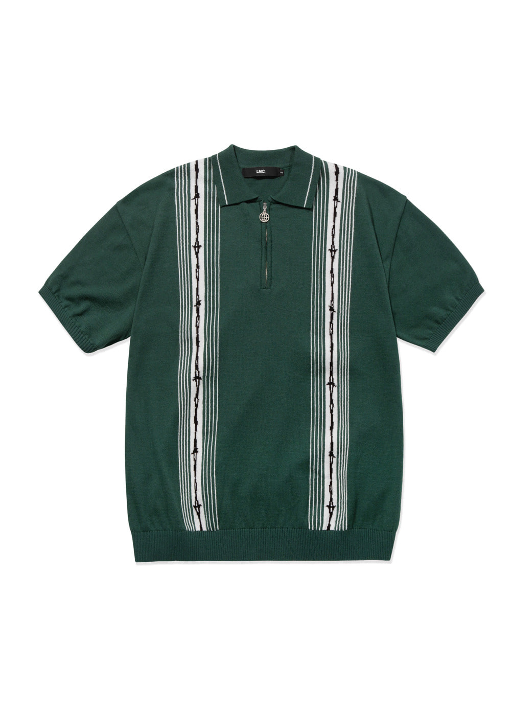 LMC BARBWIRE KNIT POLO SHIRT green