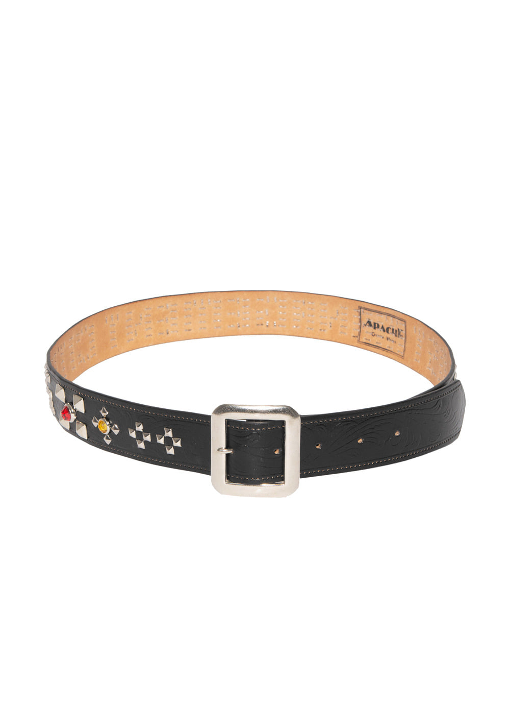 LMC APACHE WESTERN STUDDED BELT black