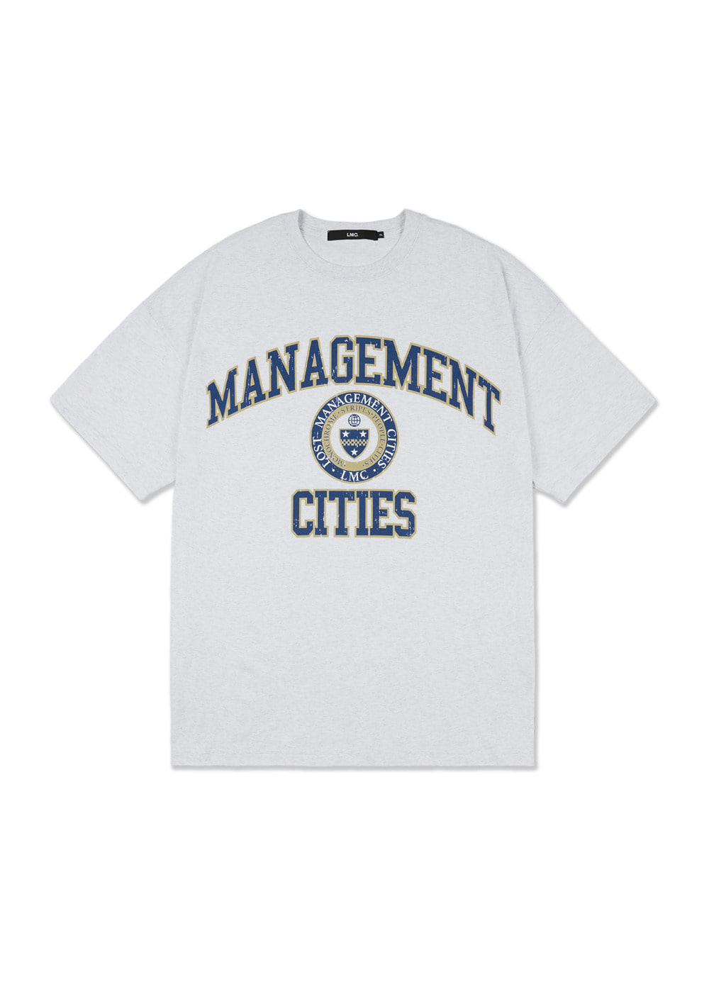 LMC UNIV OVERSIZED TEE lt. heather gray