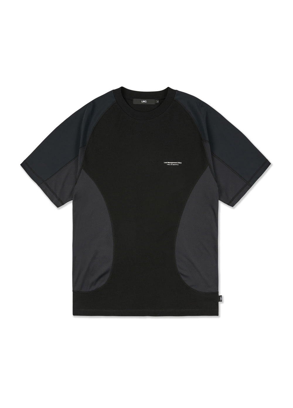 LMC CURVED SEAM JERSEY TEE black