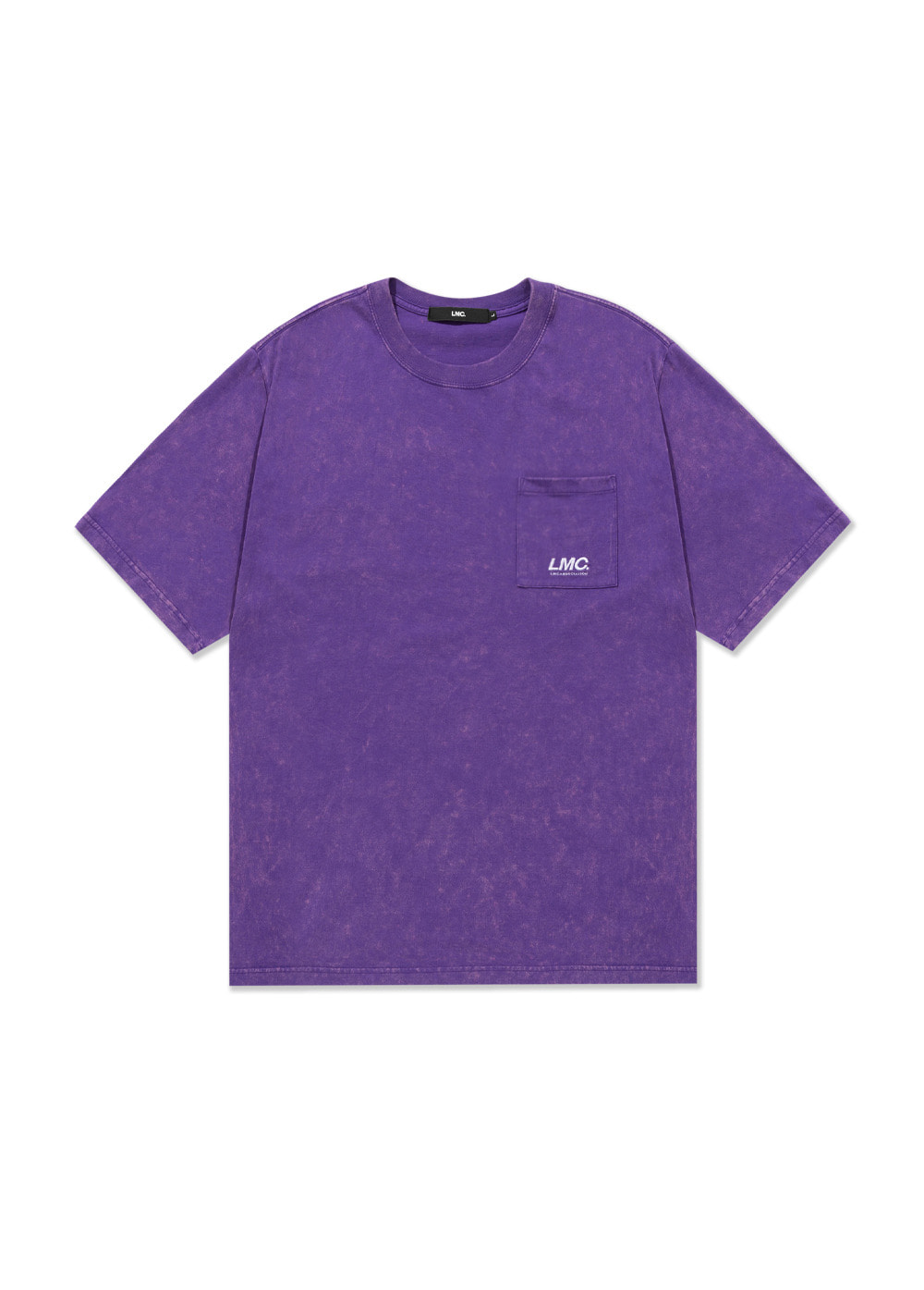 LMC ACID WASHED POCKET TEE purple
