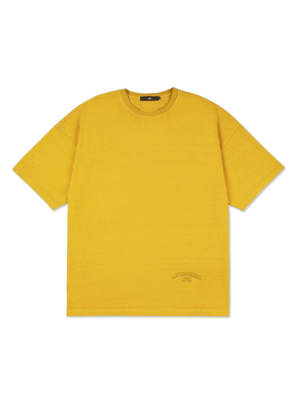 LMC OVERDYED ARCH FN OVERSIZED TEE yellow
