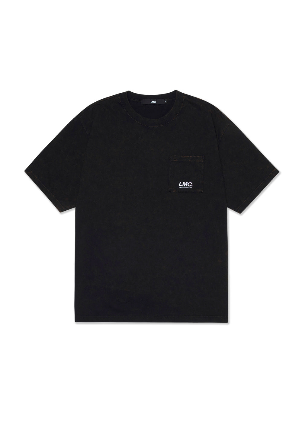 LMC ACID WASHED POCKET TEE black